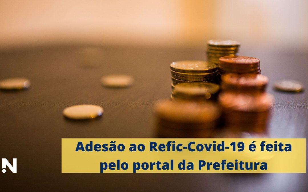 Adesão ao Refic-Covid-19 é feita pelo portal da Prefeitura