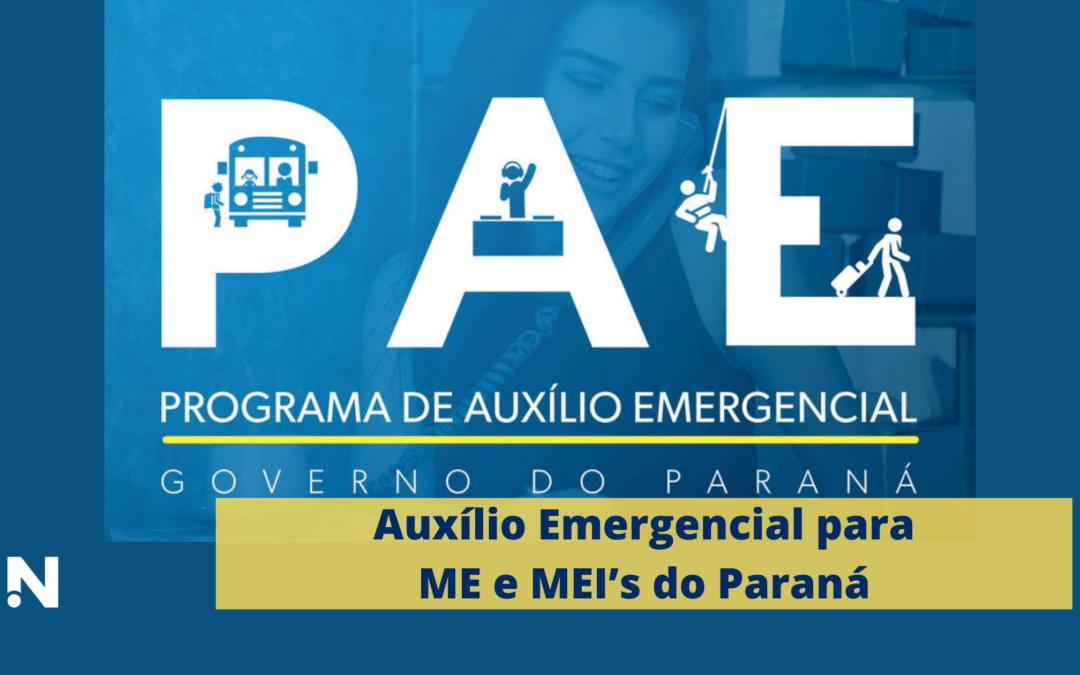 Auxílio Emergencial para ME e MEI's do Paraná