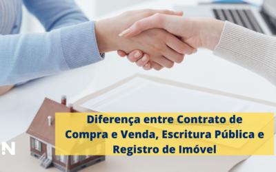 Diferença entre Contrato de Compra e Venda, Escritura Pública e Registro de Imóvel
